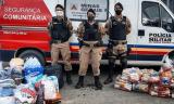 Nanuque e Serra dos Aimorés: 24ª Cia PM Ind. entrega cestas básicas
